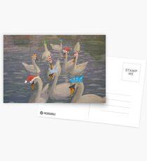 Nene Swans Christmas Party Postcards