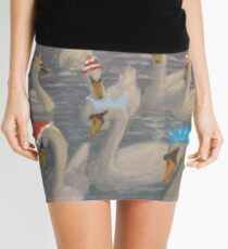 Nene Swans Christmas Party Mini Skirt