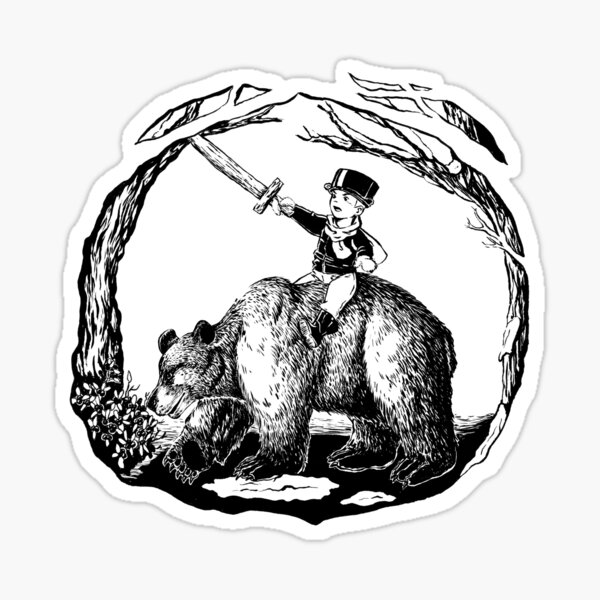 The Boy and his bear Sticker