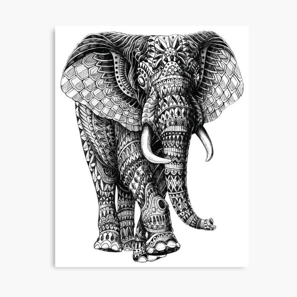Elephant Mandala Designs: Relaxing Coloring Books for Adults ... | 1000x1000