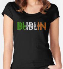 Dublin T-Shirt Irish Knot Flag Celtic Ireland St. Patrick's Paddy's  Women's Fitted Scoop T-Shirt