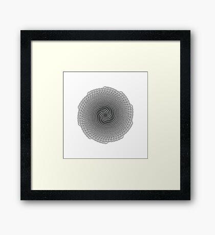 Polar Flower X Framed Print