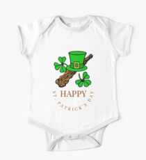 Celtic Irish Shirt St. Patrick's Leprechaun Clover Shamroc  One Piece - Short Sleeve