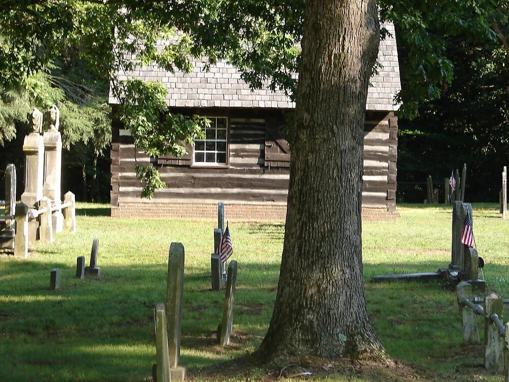 Old log cabin... by Glen Baker