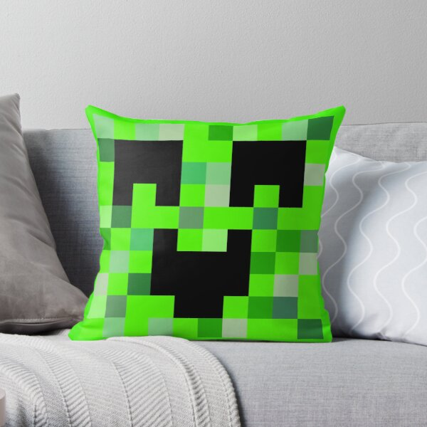 Kawaii Creeper Throw Pillow