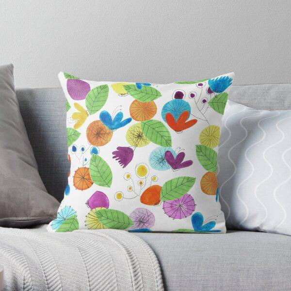 Pattern 18 - Cheerful floral Mug  Throw Pillow
