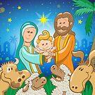 Sweet scene of the nativity of Jesus by Zoo-co