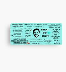 Tom Haverford Quotes Canvas Print