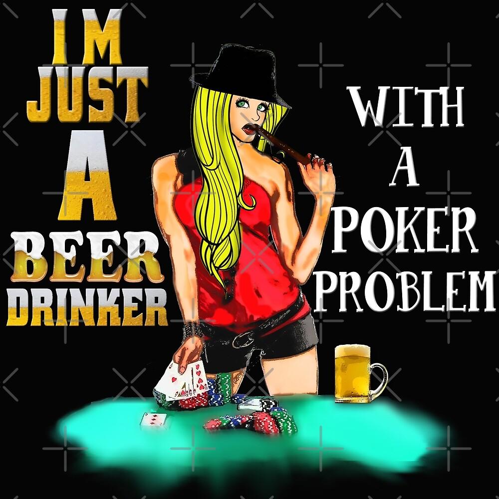 Beer drinker- poker problem by American  Artist