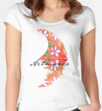 Tropical Frangipani Single Fin Women's Fitted Scoop T-Shirt