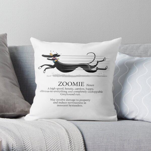 Greyhound Zoomie Throw Pillow