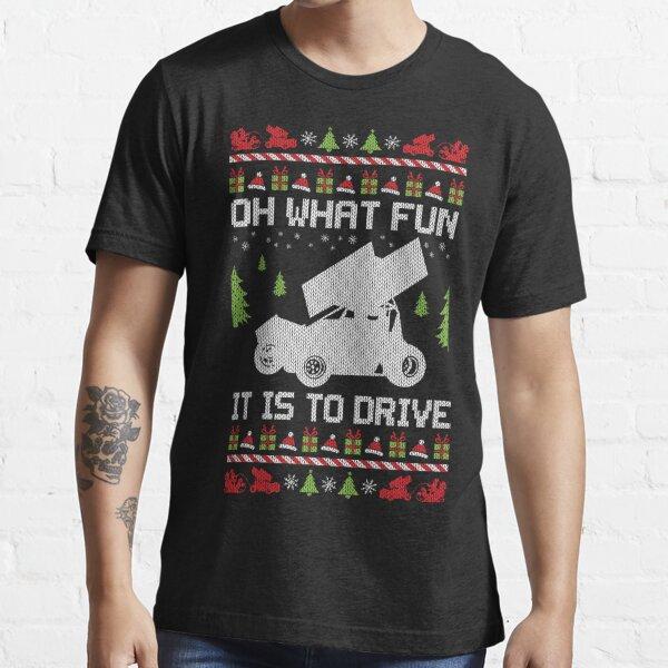Sprint Car Ugly Christmas Racer Essential T-Shirt