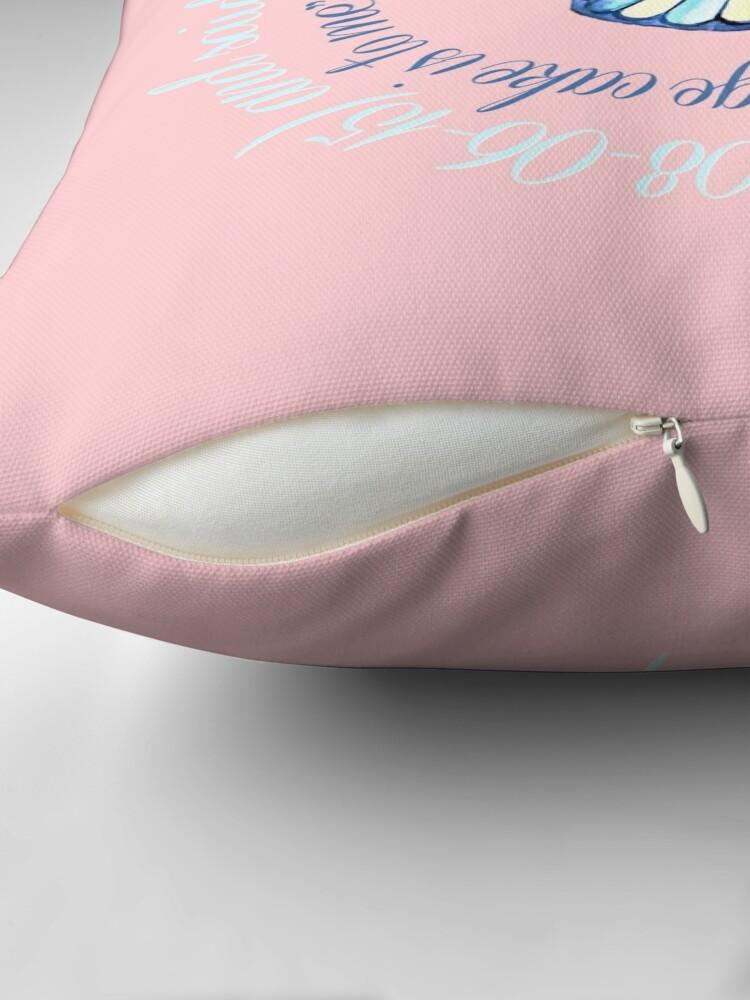 Alternate view of Jane Austen quote,  Bundt cake // Jane Austen cake quote // Jane Austen art Throw Pillow