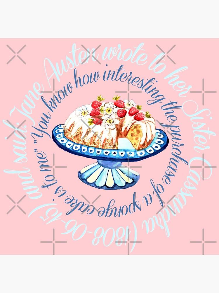 Jane Austen cake quote,  Bundt cake // Jane Austen cake quote // Jane Austen art by MagentaRose