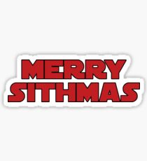 Merry Sithmas (red, bold) Sticker