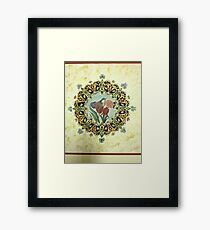 """The Tulip & The Bird"" Miniatures Framed Print"