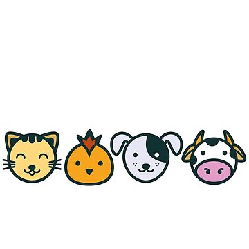 "T-Shirt for Vegans and Vegetarians ""I Love Animals"" by VEGANDOCK"