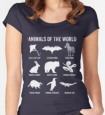 Simple Vintage Humor Funny Rare Animals of the World Women's Fitted Scoop T-Shirt