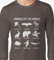 Simple Vintage Humor Funny Rare Animals of the World Long Sleeve T-Shirt