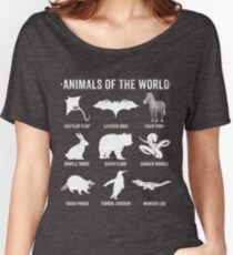 Simple Vintage Humor Funny Rare Animals of the World Women's Relaxed Fit T-Shirt