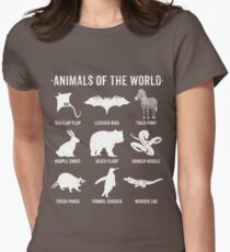 Simple Vintage Humor Funny Rare Animals of the World Women's Fitted T-Shirt