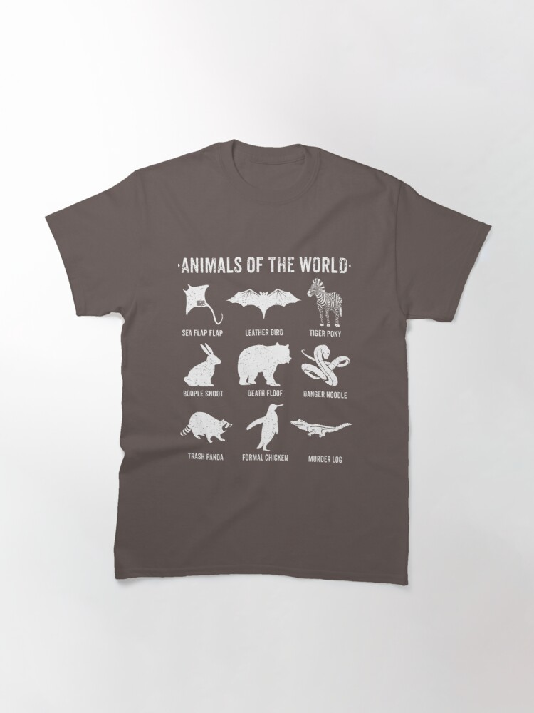 Alternate view of Simple Vintage Humor Funny Rare Animals of the World Classic T-Shirt
