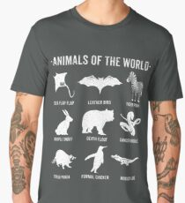 Simple Vintage Humor Funny Rare Animals of the World Men's Premium T-Shirt