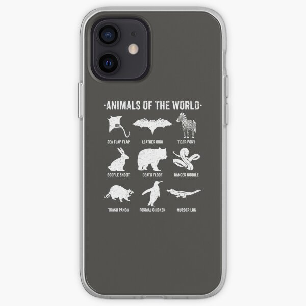 Simple Vintage Humor Funny Rare Animals of the World iPhone Soft Case