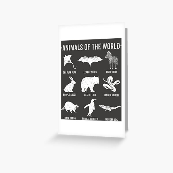 Simple Vintage Humor Funny Rare Animals of the World Greeting Card