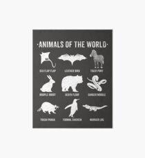 Einfache Vintage Humor Lustige seltene Tiere der Welt Galeriedruck
