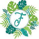 Monogramm-Buchstabe F | Personalisiert | Tropisches Design von PraiseQuotes
