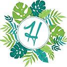 Monogramm-Buchstabe H | Personalisiert | Tropisches Design von PraiseQuotes