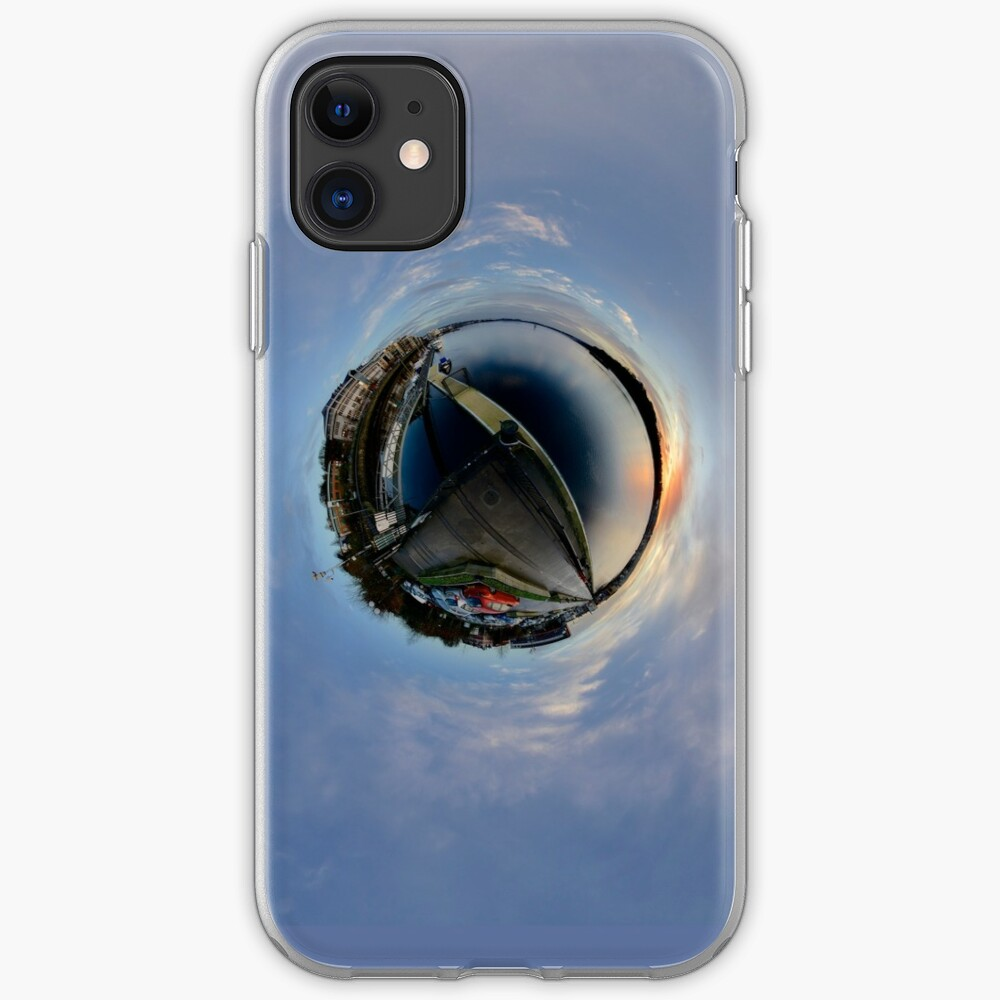Foyle Marina at Dawn, Stereographic iPhone Case & Cover