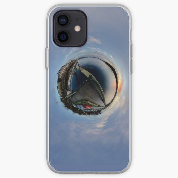 Foyle Marina at Dawn, Stereographic iPhone Soft Case