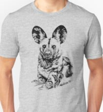 African Painted Dog Making Eye Contact Unisex T-Shirt