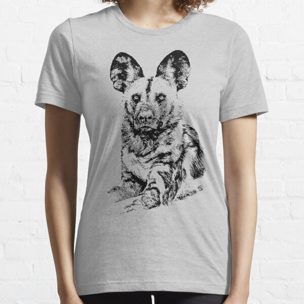 African Painted Dog Making Eye Contact Essential T-Shirt