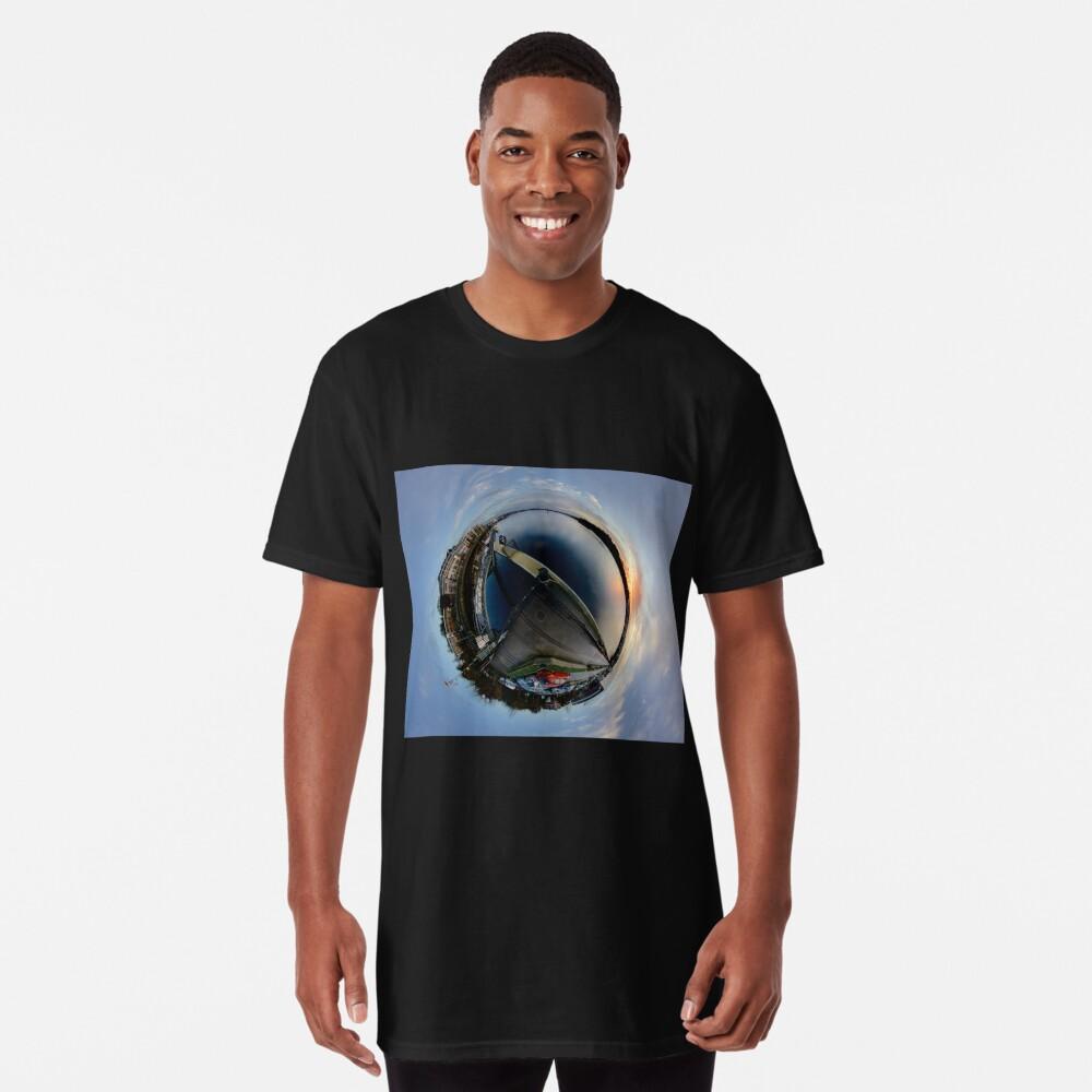 Foyle Marina at Dawn, Stereographic Long T-Shirt