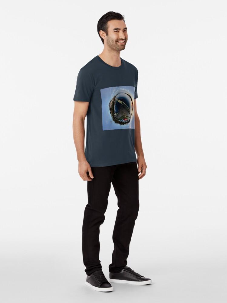 Alternate view of Foyle Marina at Dawn, Stereographic Premium T-Shirt
