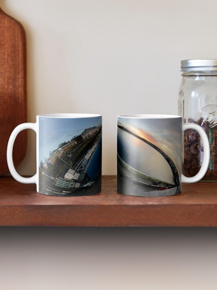 Alternate view of Foyle Marina at Dawn, Stereographic Mug