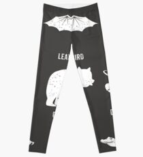 Simple Vintage Humor Funny Rare Animals of the World Leggings