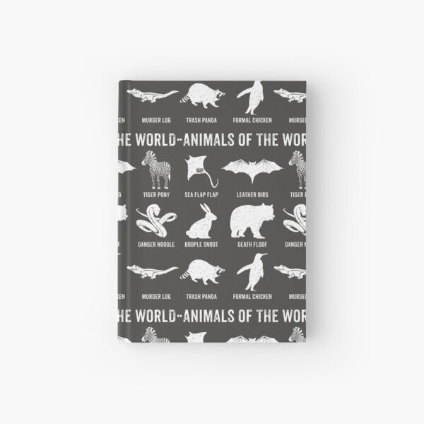 Simple Vintage Humor Funny Rare Animals of the World Hardcover Journal