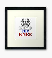 Bend the Knee - Tsarina Framed Print