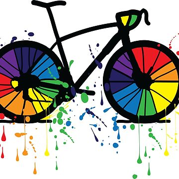 Rainbow bicycle by cheeckymonkey