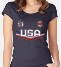 USA Soccer Female Team number 13 - Alex Morgan Women's Fitted Scoop T-Shirt