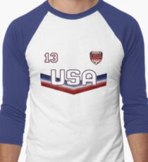 USA Soccer Female Team number 13 - Alex Morgan Men's Baseball ¾ T-Shirt