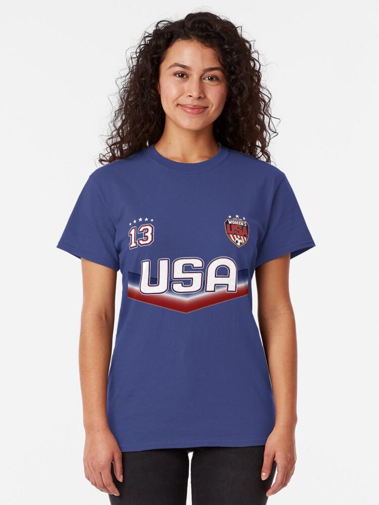 Alternative Ansicht von USA Soccer Female Team Nummer 13 Classic T-Shirt