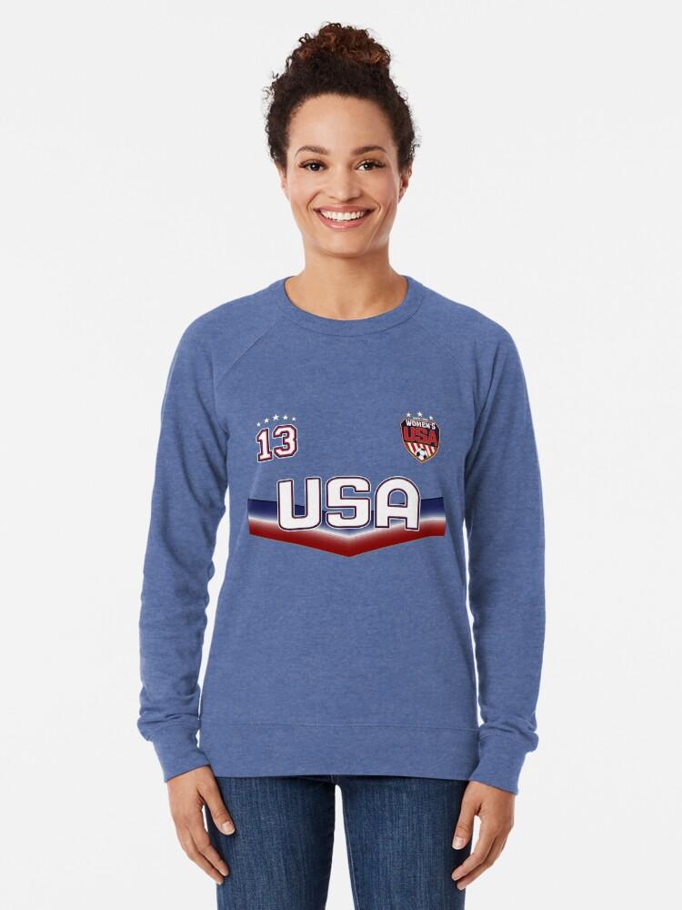 Alternative Ansicht von USA Soccer Female Team Nummer 13 Leichter Pullover