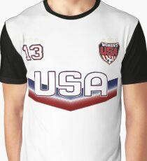 USA Soccer Female Team number 13 - Alex Morgan Graphic T-Shirt