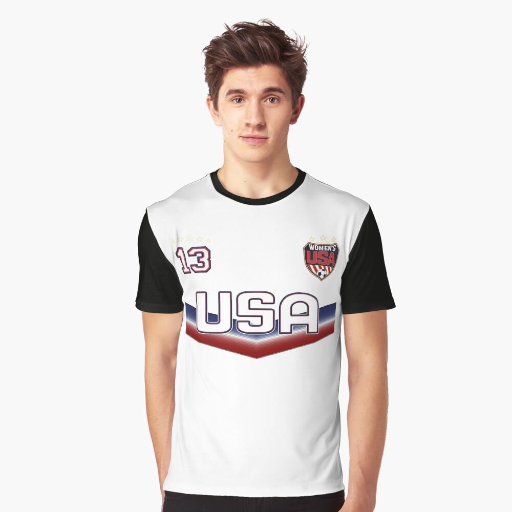 USA Soccer Female Team Nummer 13 Grafik T-Shirt