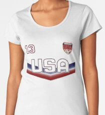 USA Soccer Female Team number 13 - Alex Morgan Women's Premium T-Shirt